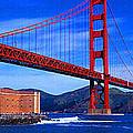 Golden Gate Bridge Panoramic View by Don Kuing