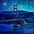 Golden Gate Bridge Night by Jill Battaglia