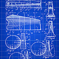 Golf Club Head Patent 1947 - Blue by Stephen Younts