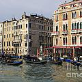 Gondolas In The Grand Canal by Jason O Watson