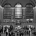 Grand Central Station Bw by Lindley Johnson
