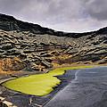 Green Lagoon On Lanzarote by Karol Kozlowski