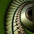 Green Spiral Staircase by Jaroslaw Blaminsky