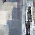 Blocked - Grey And Beige Abstract Art Painting by CarolLynn Tice