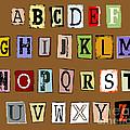 Grunge Alphabet by Michal Boubin