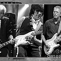 Guitar Legends Jimmy Page Jeff Beck And Eric Clapton by Marvin Blaine
