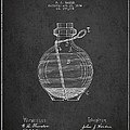 Hand Grenade Patent Drawing From 1884 by Aged Pixel