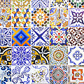 Hand Painted Portuguese Ceramic Tile by Andre Goncalves