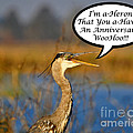 Happy Heron Anniversary Card by Al Powell Photography USA