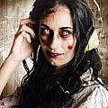 Hard Rock Zombie Listening To Death Metal Music by Jorgo Photography - Wall Art Gallery