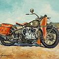 Harley Davidson Wla 1942 by Luke Karcz
