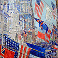 Hassam's Allies Day May 1917 -- The Avenue Of The Allies by Cora Wandel
