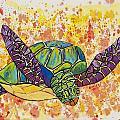 Hawaiian Sea Turtle  by Darice Machel McGuire