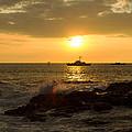 Hawaiian Waves At Sunset by Bryant Coffey