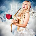 Heavenly Angel Of Love With Flower Arrow by Jorgo Photography - Wall Art Gallery