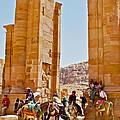 Hellenistic Gateway In Petra-jordan  by Ruth Hager