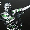Henrik Larsson - Celtic Fc by Geo Thomson