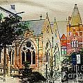 Historic Churches St Louis Mo - Digital Effect 7 by Debbie Portwood