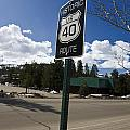 Historic Route Us 40 Sign by Jason O Watson
