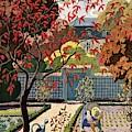 House And Garden Fall Planting Number Cover by Pierre Brissaud