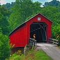 Hune Covered Bridge by Jack R Perry