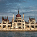 Hungarian Parliament Building Afternoon by Joan Carroll