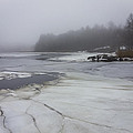 Ice And Fog And The Ipswich River by David Stone