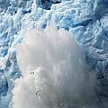 Ice Falling Off Glacier Alaska by Hiroya  Minakuchi