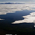 Ice On Yellowstone Lake by J L Woody Wooden