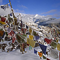 Icy Prayer Flags Himalaya by Colin Monteath