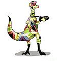 Illustration Of An Iguanodon by Stocktrek Images