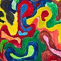 Image Of Multicolored Painting by Aleksandar Mijatovic