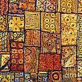 Indian Patchwork Carpet by Sorin Rechitan