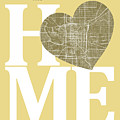 Indianapolis Street Map Home Heart - Indianapolis Indiana Road M by Jurq Studio
