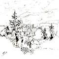 Ink Sketch by Karina Plachetka
