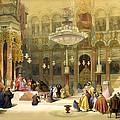 Inside The Church Of The Holy Sepulchre by Munir Alawi