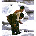 Inuit Boys Ice Fishing Barrow Alaska July 1969 by California Views Archives Mr Pat Hathaway Archives