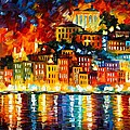 Inviting Harbor by Leonid Afremov