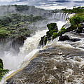 Iquassu Falls - South America by Jon Berghoff