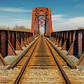 Iron Railroad Bridge Over Water, Texas by Panoramic Images