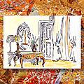 Italy Sketches Venice Hotel by Irina Sztukowski