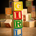 Its A Girl - Alphabet Blocks by Edward Fielding
