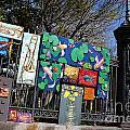 Jackson Square Vendors by Bev Conover