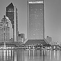Jacksonville Florida Black And White Panoramic View by Frozen in Time Fine Art Photography