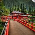 Japanese Temple by Les Lorek