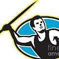 Javelin Throw Track And Field Athlete by Aloysius Patrimonio