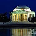 Jefferson Memorial At Night by Nick Zelinsky
