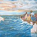 Jesus Walking On Water by Volmar Etienne