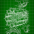 Jet Engine Patent 1941 - Green by Stephen Younts