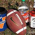 Jim Beam Coke And Football by Jason O Watson